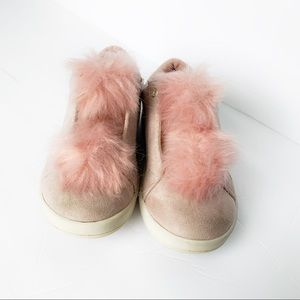 SAM EDELMAN❤️Toddler 8❤️Suede & fur slip on's